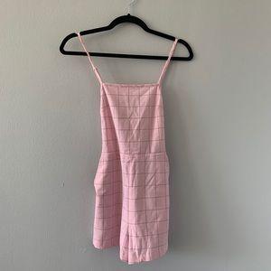 American Apparel Pink Grid Romper